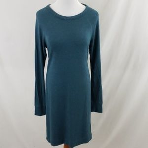 Lou & Grey Teal Signature Soft Knit Dress sz Med